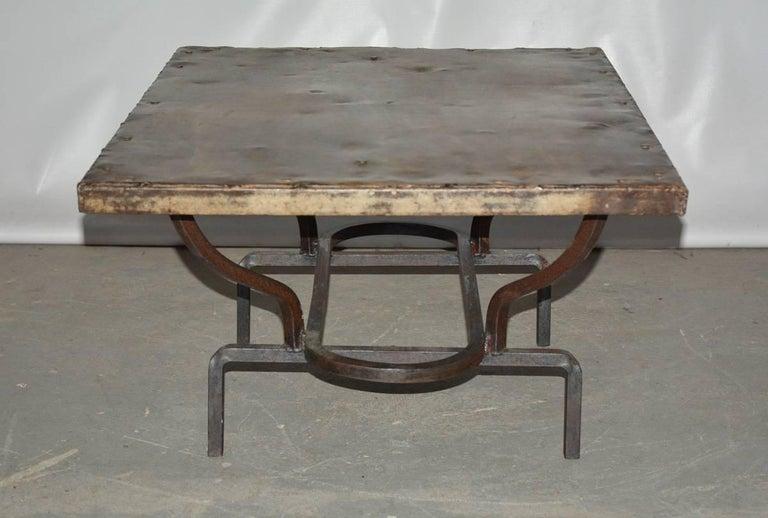 Cast Iron Metal Top Indoor Or Outdoor Garden Coffee Table