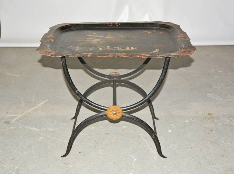Chinoiserie Tole Tray Table 2
