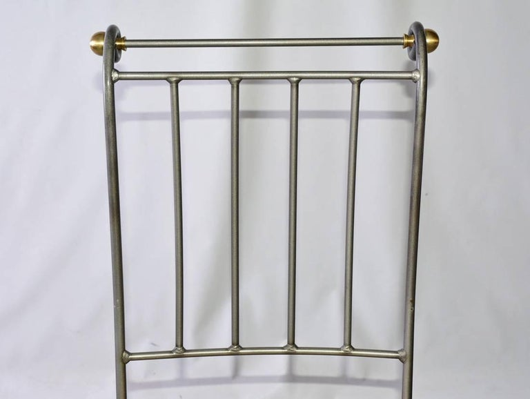 Contemporary Stainless Steel and Brass Bar Stool 6