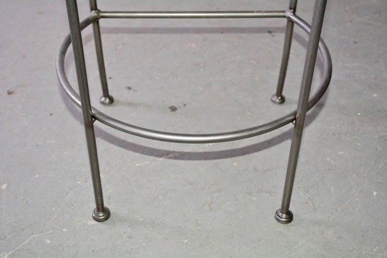 Contemporary Stainless Steel and Brass Bar Stool 8