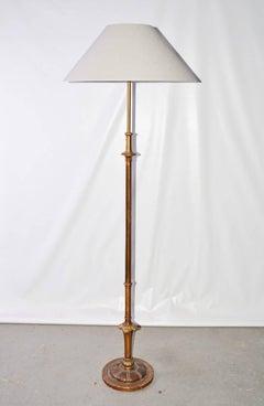 Italian Giltwood Standing Floor Lamp
