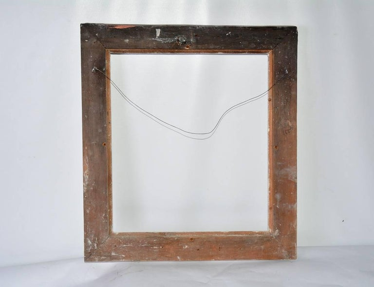 20th Century Vintage Rococo-Style Picture Frame with Whitewash For Sale