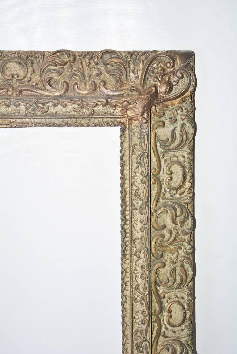 Italian Renaissance-Style Frame with Leaves and Scrolls For Sale