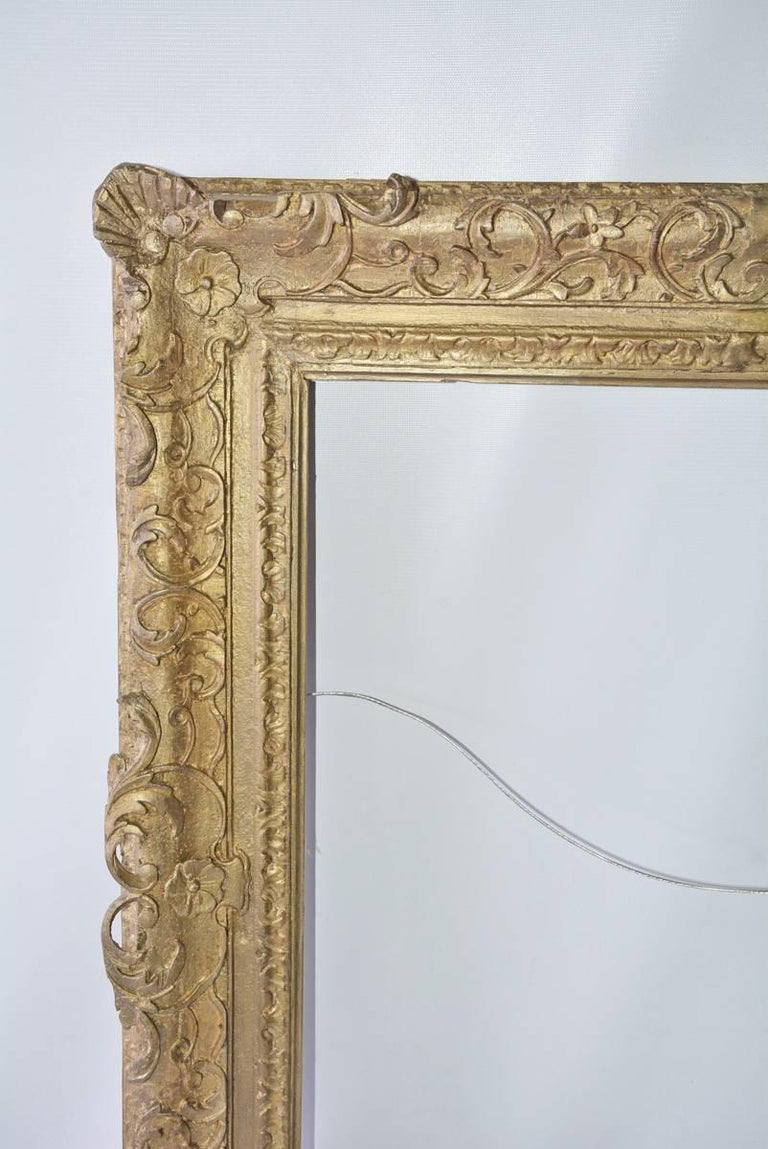 Unknown Vintage French-Style Frame with Molded Leaves For Sale