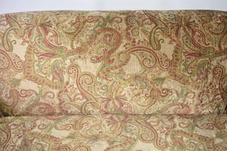 Napoleon III-Style Settee Covered in Paisley Velvet In Excellent Condition In Great Barrington, MA