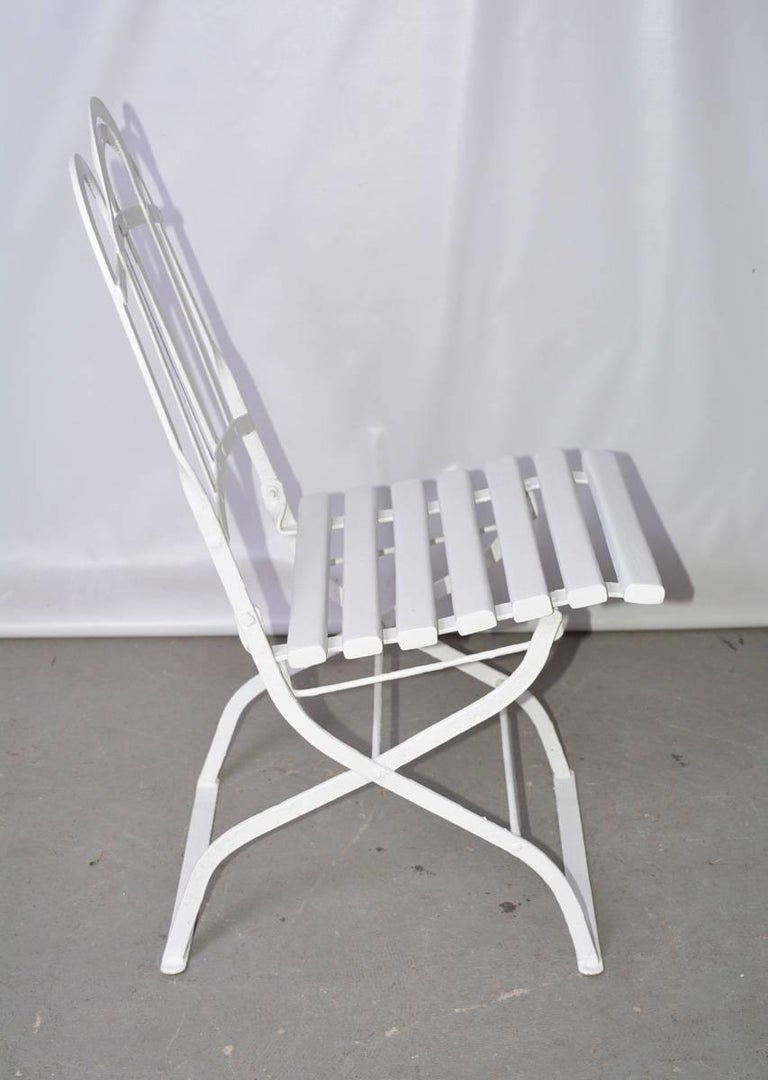 Antique French Folding Bistro Chair For Sale At 1stdibs