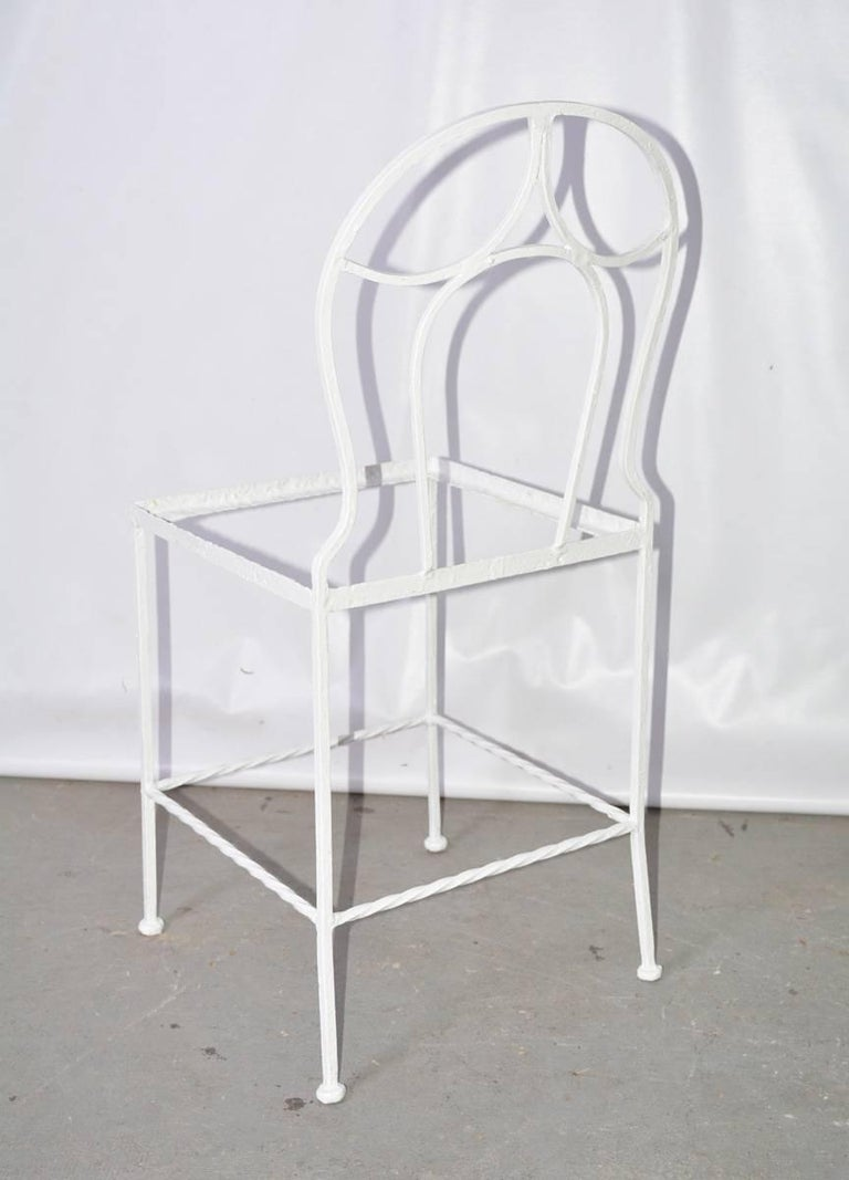 Other Antique French Iron Bistro Garden Chair For Sale