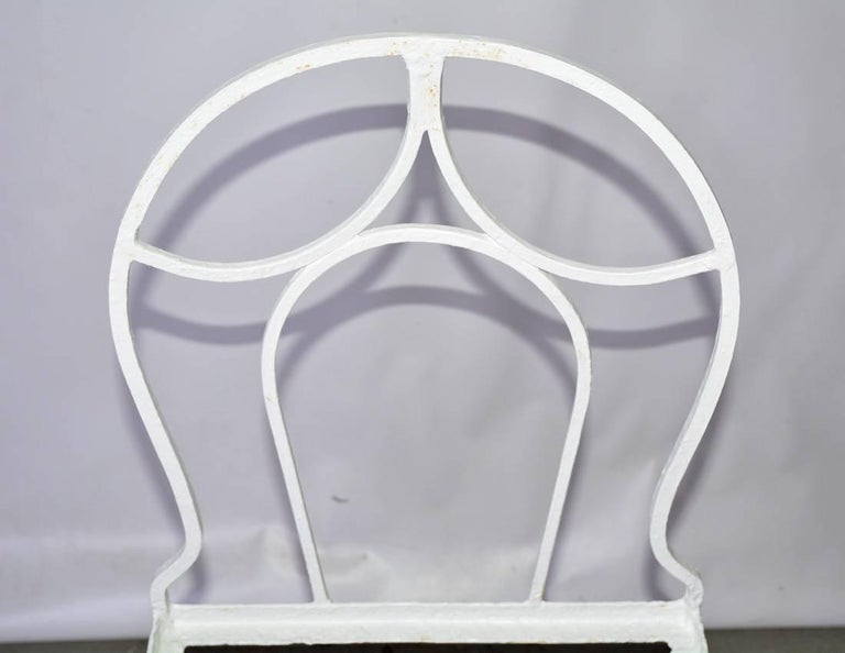 Antique French Iron Bistro Garden Chair In Good Condition For Sale In Great Barrington, MA