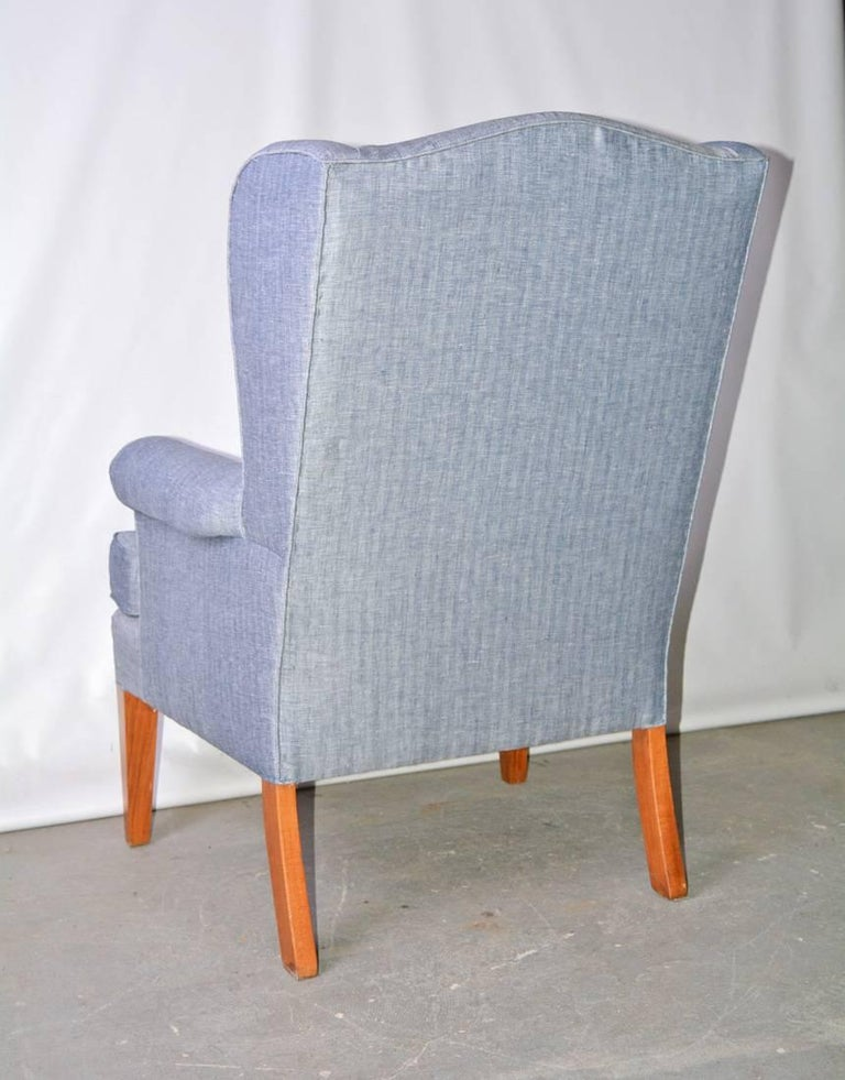 American Mid-Century Modern Wingback Chair For Sale