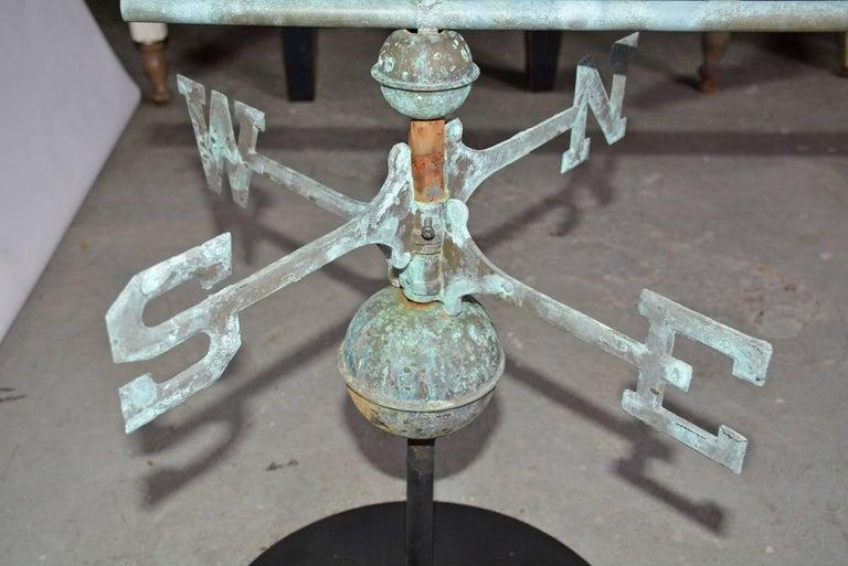 Vintage Weather Vane: Antique Copper Weathervane On Stand For Sale At 1stdibs
