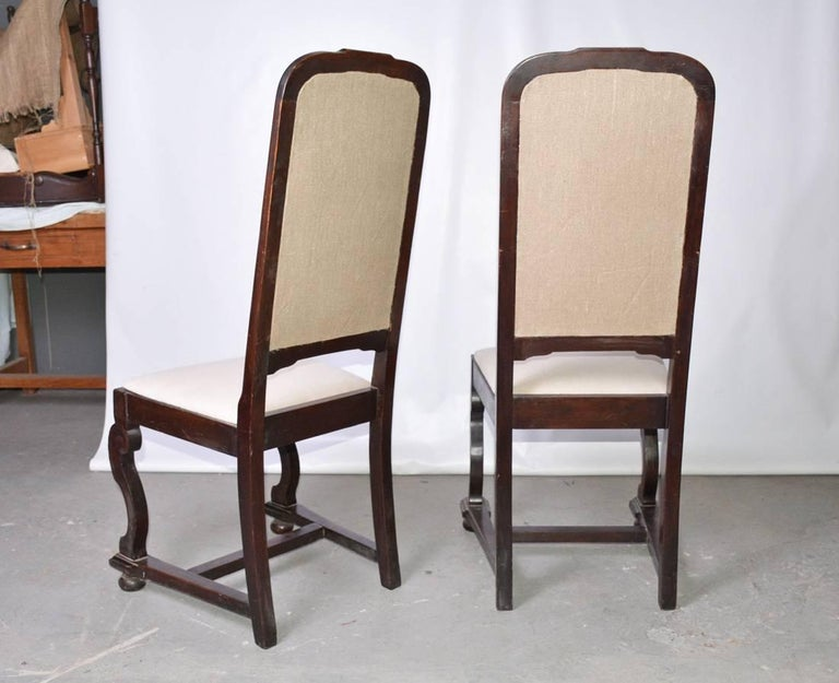 Unknown Pair of Antique Jacobean-Revival Side Chairs For Sale