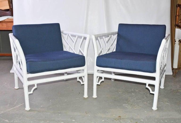 Four-Piece Metal Vintage Faux Bamboo Patio or Porch Set 5