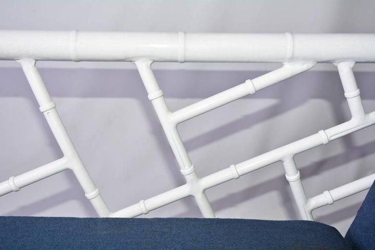 Four-Piece Metal Vintage Faux Bamboo Patio or Porch Set 8