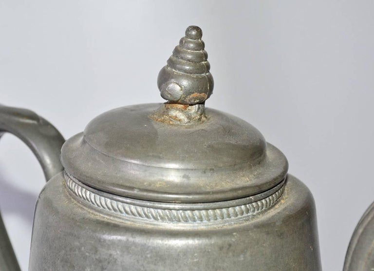 Antique Pewter Coffee Pot For Sale 1