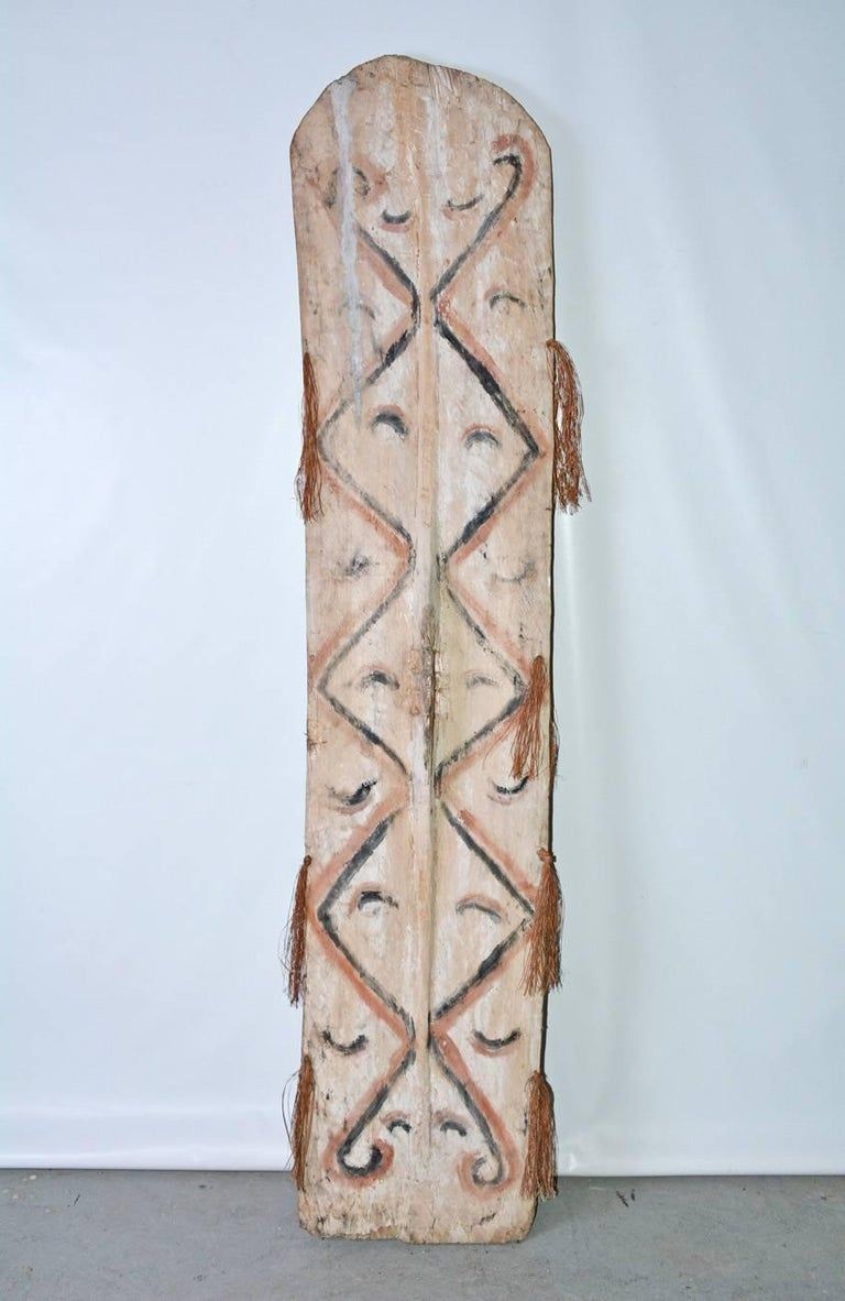Wood Early 20th Century Large Tribal Shield For Sale