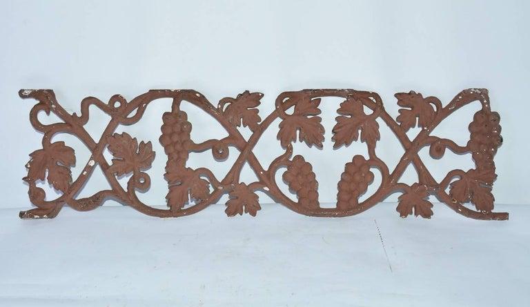 19th Century Decorative Metal Railing Piece For Sale