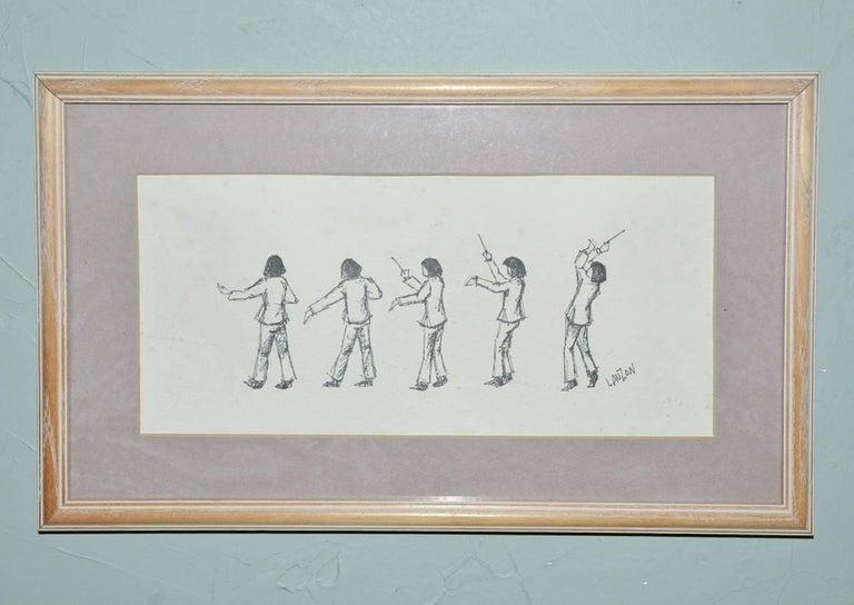 Contemporary Set of Five Framed