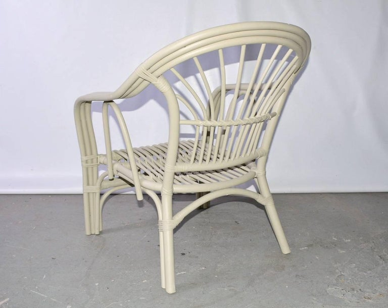 American Vintage Rattan Armchair For Sale