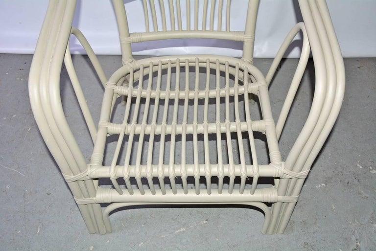 Vintage Rattan Armchair For Sale 1
