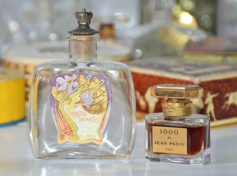 20th Century Collection of Vintage Perfume Bottles For Sale