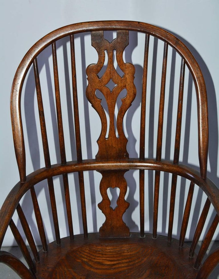 Set of Eight Georgian Style Windsor Dining Chairs For Sale 1