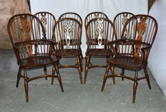 Set of Eight Georgian Style Windsor Dining Chairs