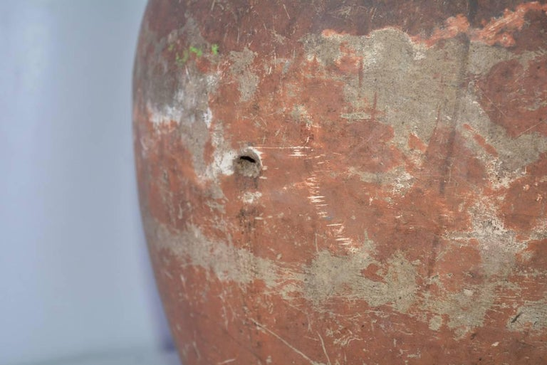 Rustic Terracotta Pottery Jar For Sale