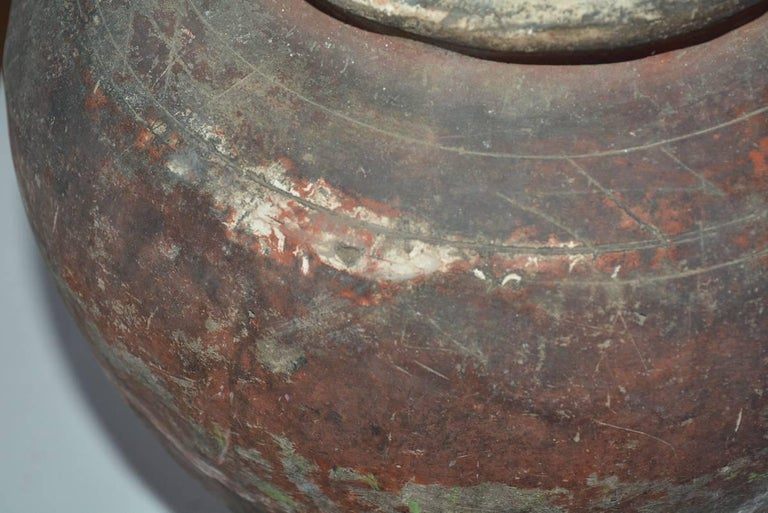 Hand-Crafted Terracotta Pottery Jar For Sale