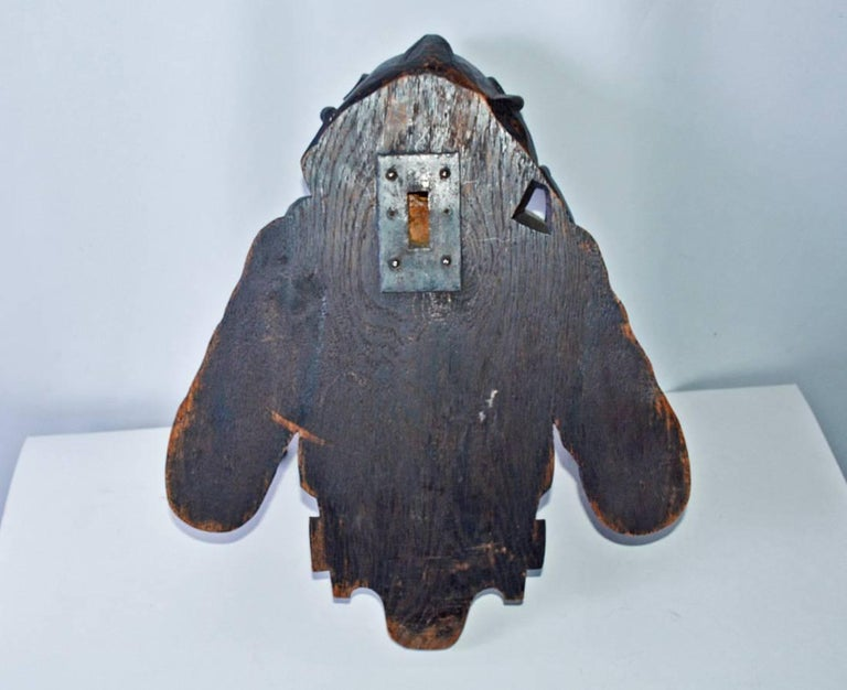 Gothic Revival Carved Wood Jester For Sale 1
