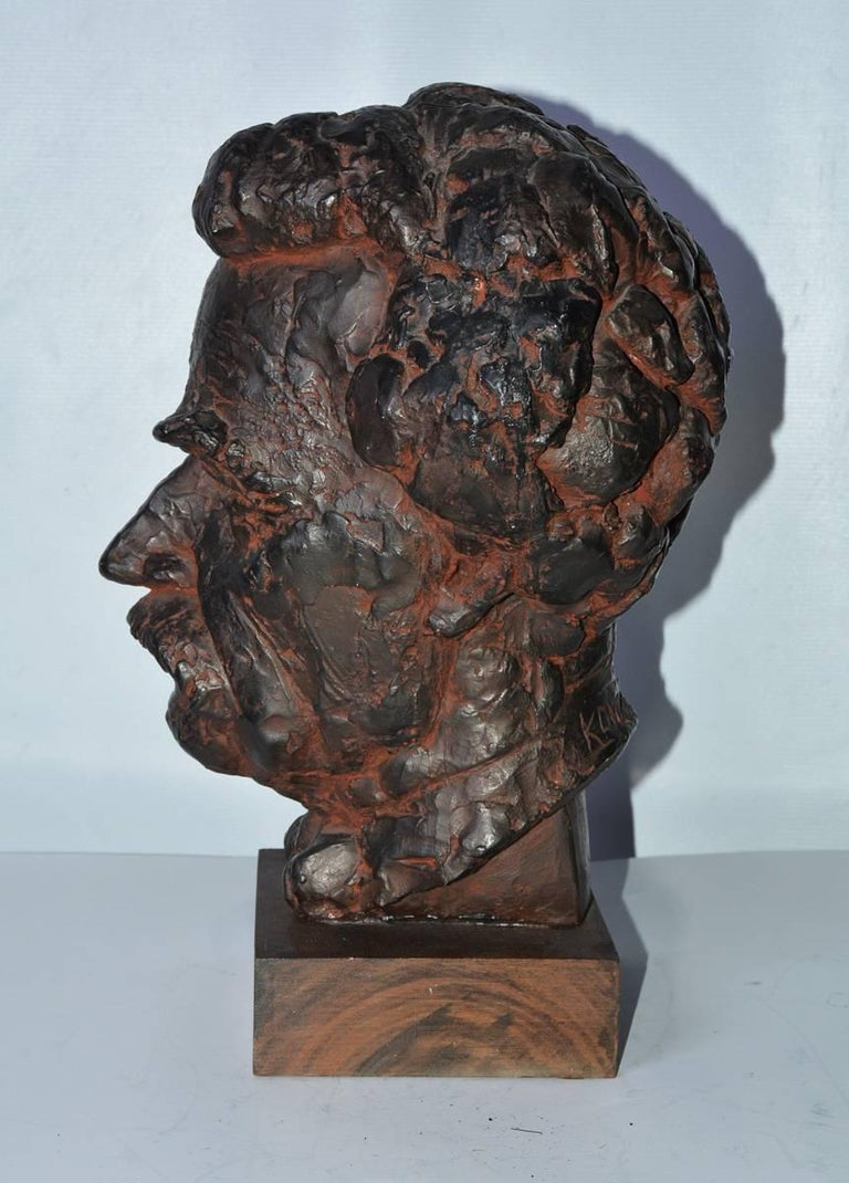 American Classical Head Sculpture, Mark Twain For Sale