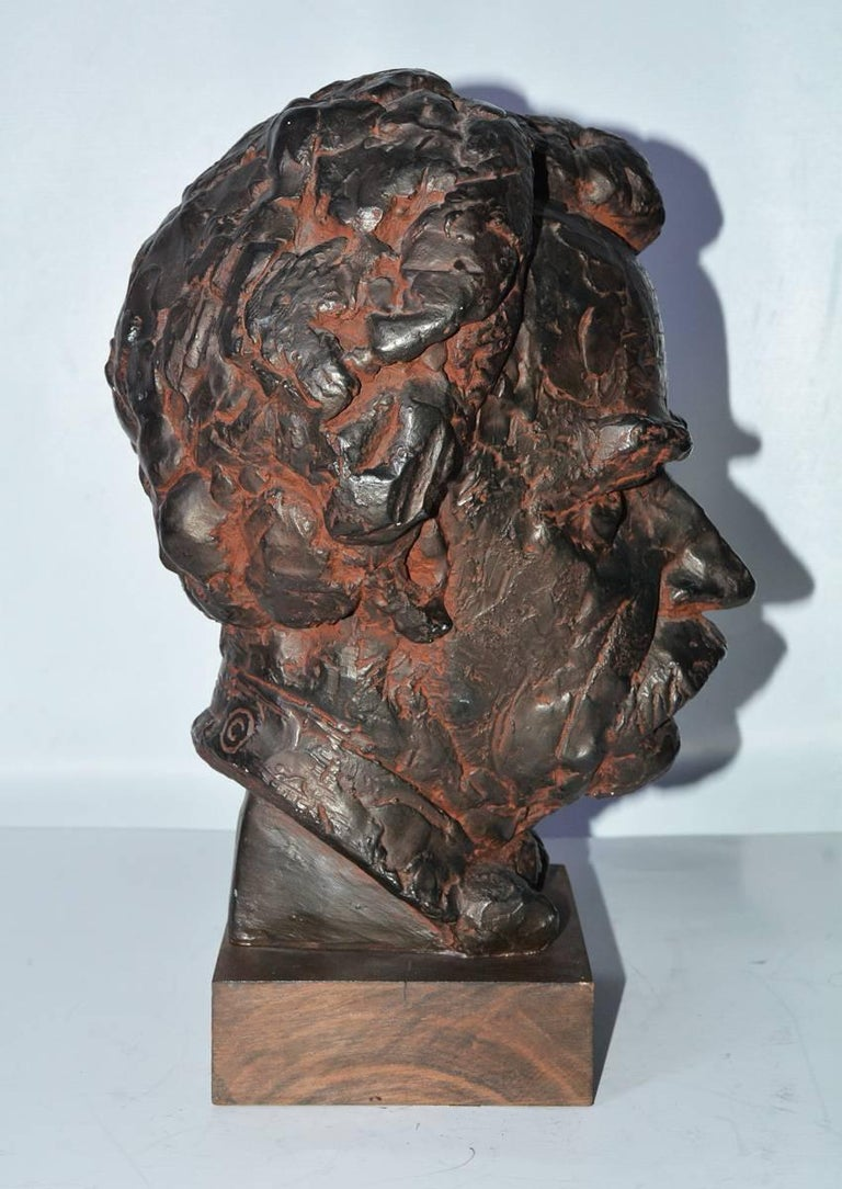 Cast Head Sculpture, Mark Twain For Sale
