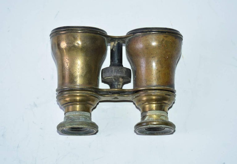 Antique French Verres Supérieurs Binoculars In Fair Condition For Sale In Great Barrington, MA