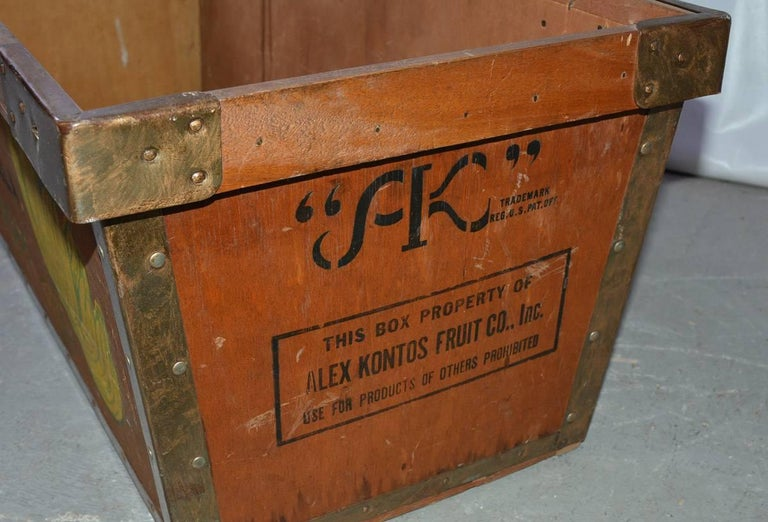 Large Wood Crate by Alex Kontos Fruit Co., Alabama 6
