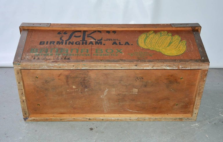 Large Wood Crate by Alex Kontos Fruit Co., Alabama For Sale 2