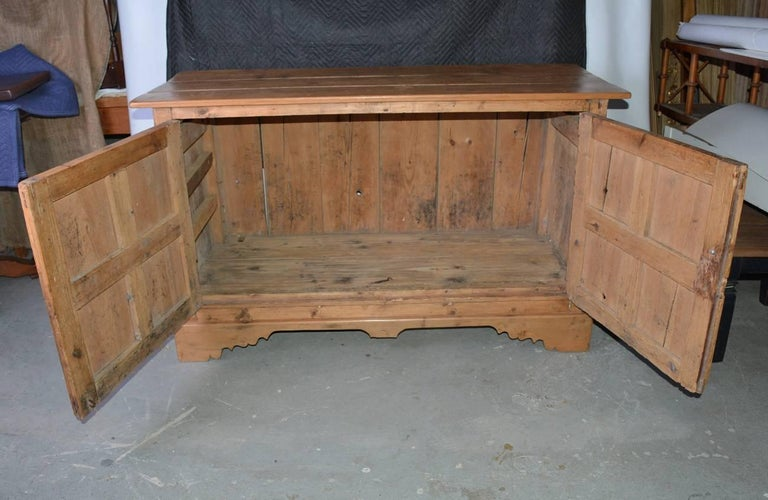 British Large Antique Pine Sideboard or Cabinet For Sale