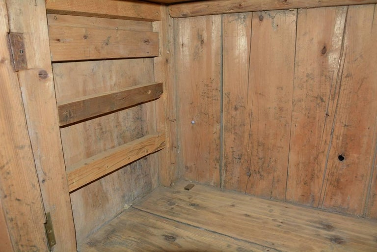 Hand-Crafted Large Antique Pine Sideboard or Cabinet For Sale