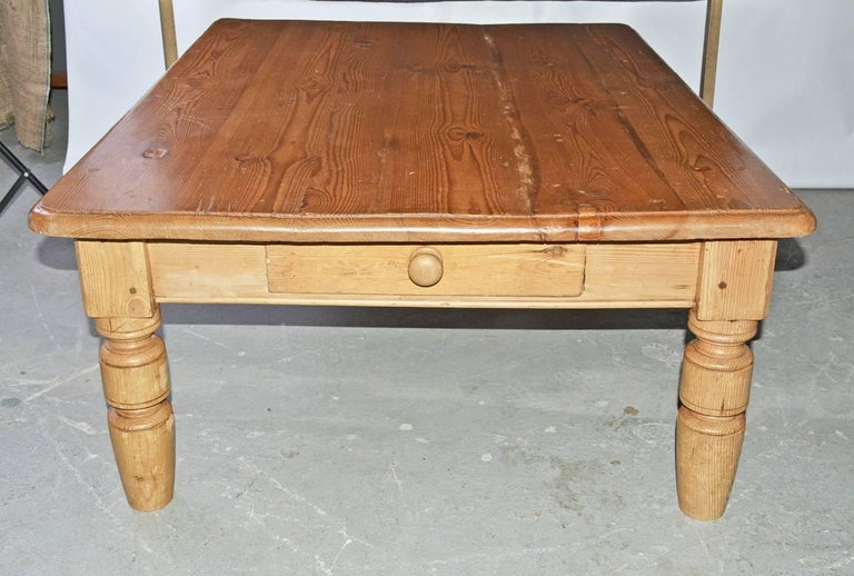 English Pine Coffee Table For Sale