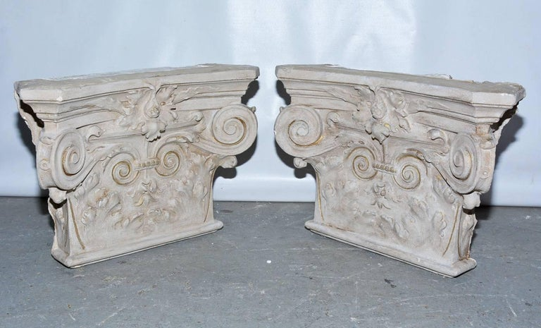 Classical Roman 19th Century Plaster Detail from a Building in Belgium For Sale