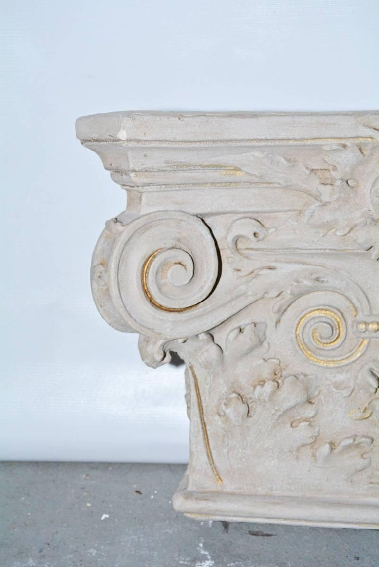 French 19th Century Plaster Detail from a Building in Belgium For Sale