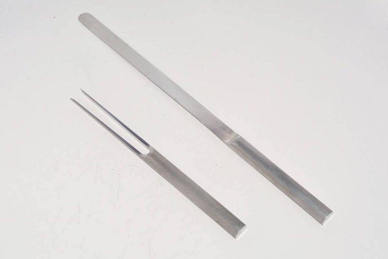 Modern Carving Set by Cini & Nils For Sale