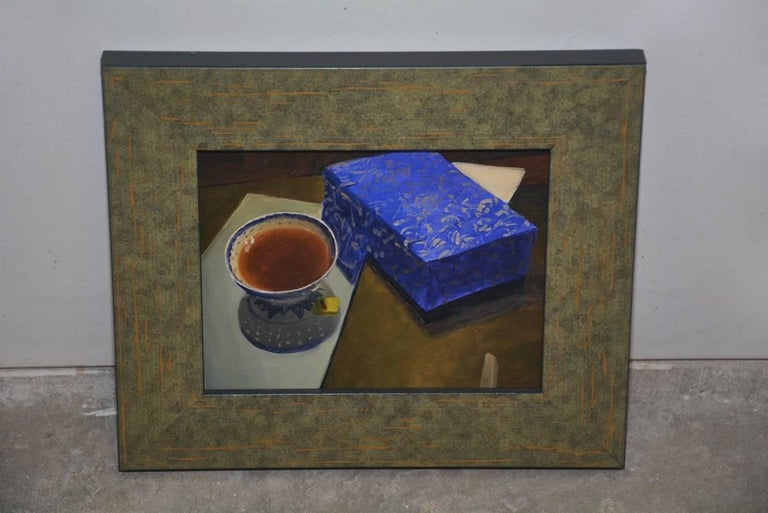 Expressionist Tea Cup and Blue Box For Sale