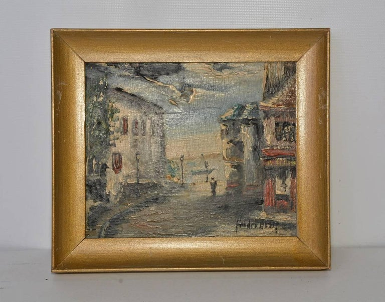 French Four Small 20th Century Parisian Landscapes in Oil by Andre Bessp For Sale