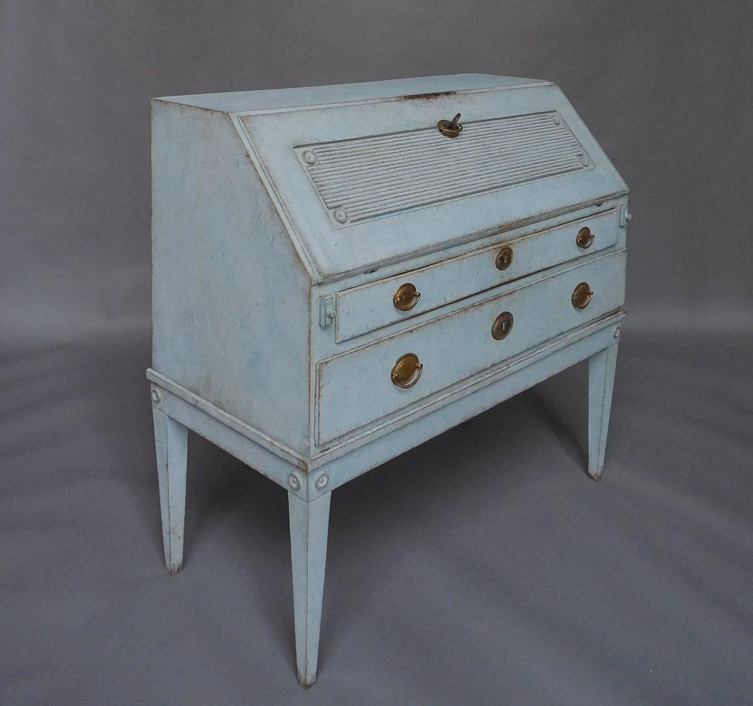 Amazing photo of Swedish Slant Front Writing Desk For Sale at 1stdibs with #586973 color and 1500x1406 pixels