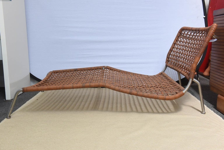 Italian Leather Frog Lounge Chair, by Piero Lissoni For Sale