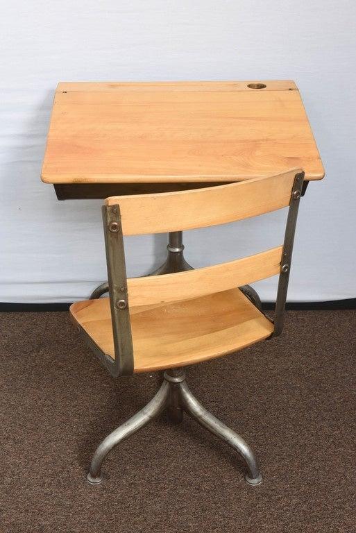 1950s Industrial Child's School Desk For Sale 1
