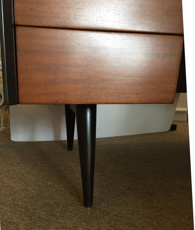 Mid-20th Century Jens Risom Mid-Century Modern Five-Drawer Mahogany Writers Desk For Sale
