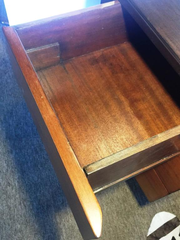 Jens Risom Mid-Century Modern Five-Drawer Mahogany Writers Desk For Sale 2