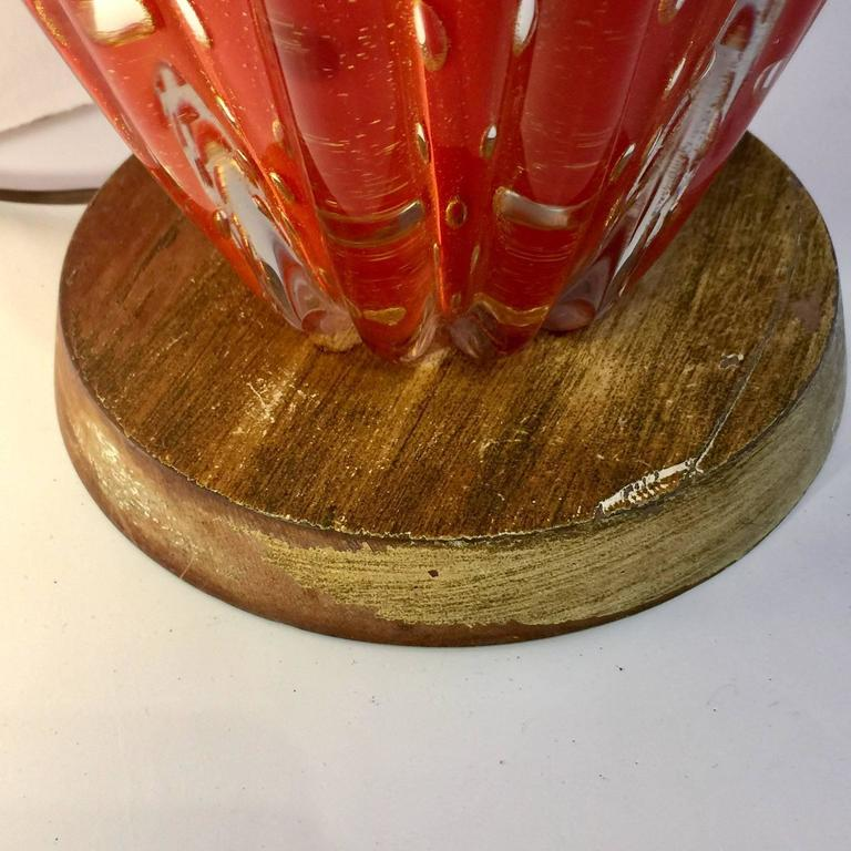 Barovier & Toso Gold Flex Bubbles Murano Art Glass Table Lamp, Italy 6