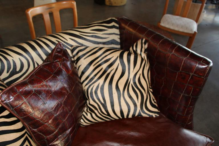 Old Hickory Tannery Croc Grained Zebra Pattern Horsehide