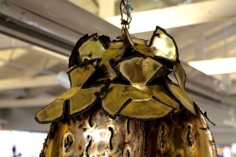 American Tom Greene Brutalist Pendant Chandelier For Sale